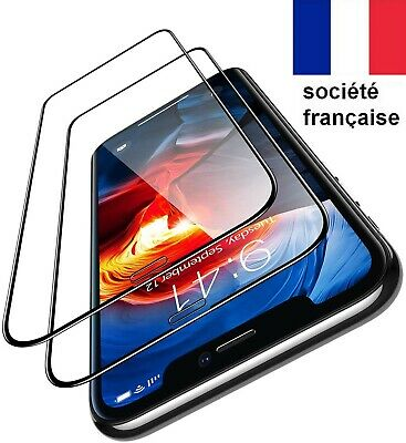 VERRE IPHONE X XS XR 11 PRO MAX TREMPE VITRE INTEGRALE FILM ECRAN  3d integral