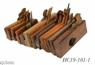 large lot WOOD WOODEN MOLDING PLANE TOOLS carriage H&R's other odd cuts