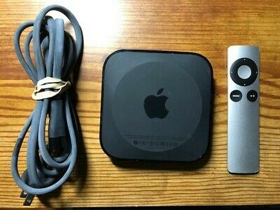 Apple A1469 Media Streaming 3rd Generation - Black w/remote & power cord