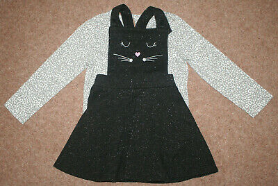 Girl's pinafore dress and top set by George. Size 2-3 years. PRE-Loved.
