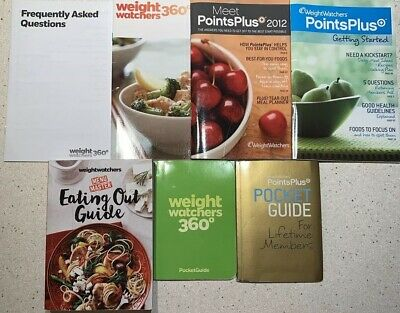 WEIGHT WATCHERS 360 Points Plus Lot - Pocket Guide Lifetime Members, Eating Out,