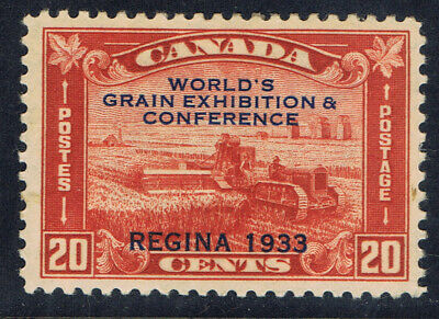Canada #203(1) 1933 20 cent GRAIN EXHIBITION HARVESTING WHEAT OVERPRINT CV$60.00