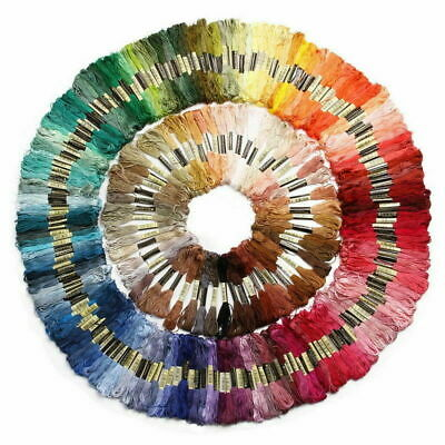 50 Colors 8M Stitch Cotton Embroidery Thread Floss/Skeins Kit UK