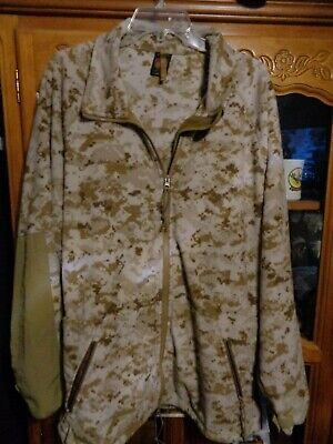 USMC Desert Digital MARPAT Polartec Jacket Wind Pro Fleece X Large Regular  XLR