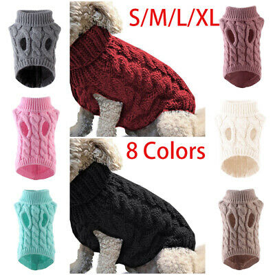 Fashion Knitted Puppy Dog Jumper Sweater Pet Clothes For Small Dogs Cat Coat UK