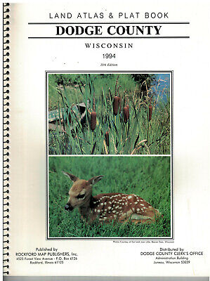 1994 Dodge County Wisconsin Land Atlas &  Plat Book  soft covered