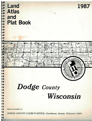 1987 Dodge County Wisconsin Land Atlas &  Plat Book  soft covered