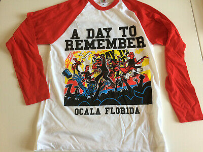 A DAY TO REMEMBER 2017 Tour LONG SLEEVE TOP medium mens new 36 inch chest