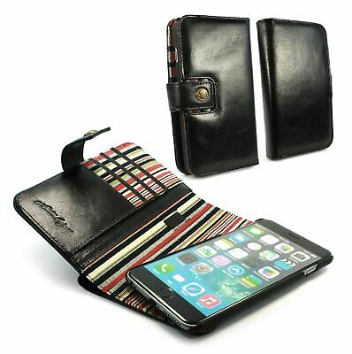 Alston Craig Personalised Leather Magnetic Wallet for iPhone 6S/7/8 Plus - Black