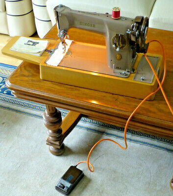 Vintage Singer 201k (201p) Semi Industrial Electric Sewing Machine- c1960