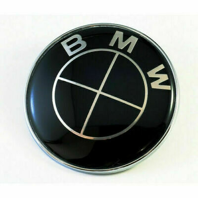 BMW 45mm Replacement Full Black Steering Wheel Badge Sticker