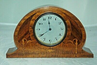 Antique Inlaid Swiss Movement Mantle Clock,Working Order.