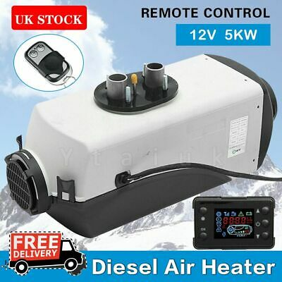 12V 5000W 5KW Air Diesel Heater PLANAR Remote  LCD Monitor Car Truck Bus Boat UK