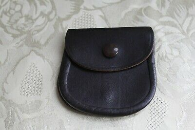 Vintage leather belt coin purse pouch waist -  brown