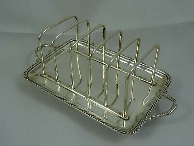 QUALITY, solid silver TOAST RACK, 1935, 238gm