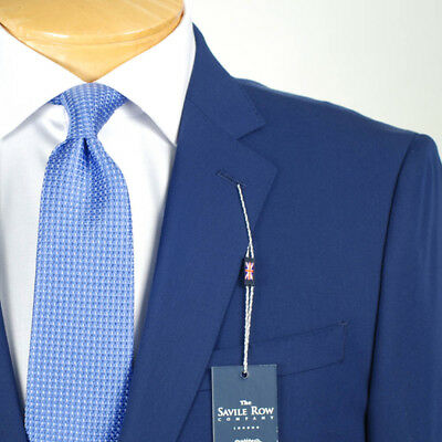 44R SAVILE ROW Solid Blue SUIT SEPARATE  44 Regular Mens Suits - SS37