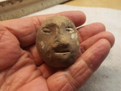 Pre Columbian ARTIFACT  RARE NEAT  OLMEC HEAD FACE  FIGURE