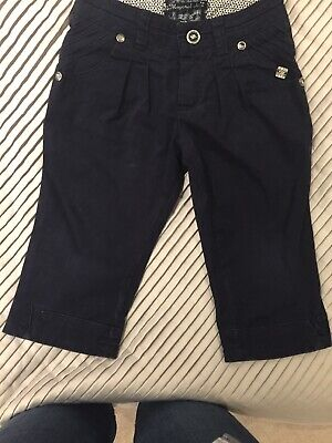 Mayoral Girls Navy Trousers Age 4 Vgc