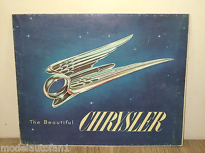 Folder/Brochure 1951 Chrysler Windsor New Yorker Imperial *4888