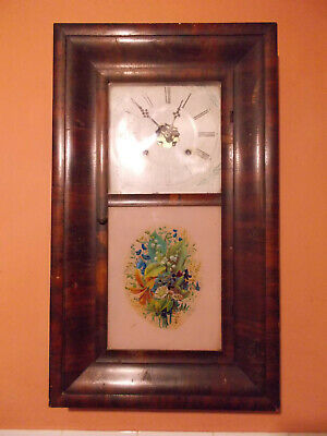 Antique Ansonia American Weight Driven Ogee Kipper Box Clock for Restoration