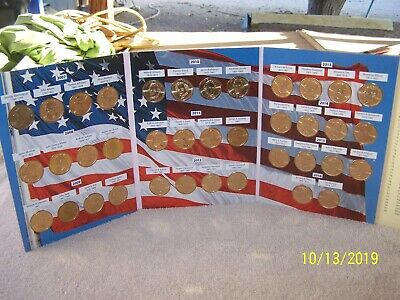 Presidential Dollar Coin Book 2007-2016 Complete Full