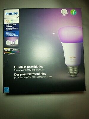Philips- HUE Personal Wireless Lighting.  White & Color Ambiance LED Limited...