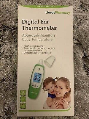 lloyds pharmacy Digital Ear Thermometer Accurately Monitors Body Temp Brand New