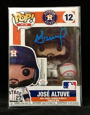 Houston Astros Jose Altuve Autographed/Signed Funko Pop (#12) with COA.