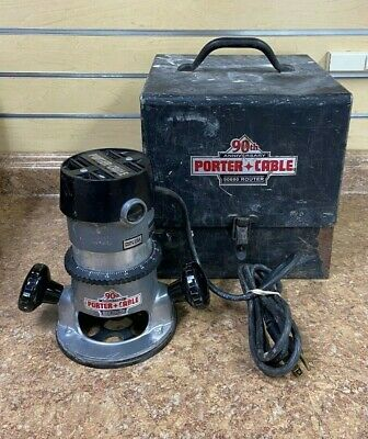 Porter Cable 90690 90th Anniversary 1-1/2 HP Router w/ Steel Case Pre-owned