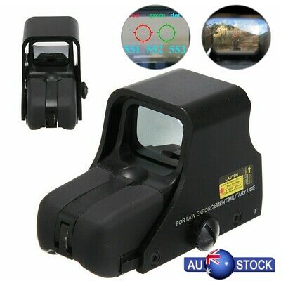 Red Green Dot Holographic Sight 551 Tactical Scope Sight Shockproof AU
