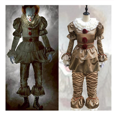 2019 New It Chapter Two 2 Joker Pennywise Cosplay Costume Latex Mask Prop Unisex