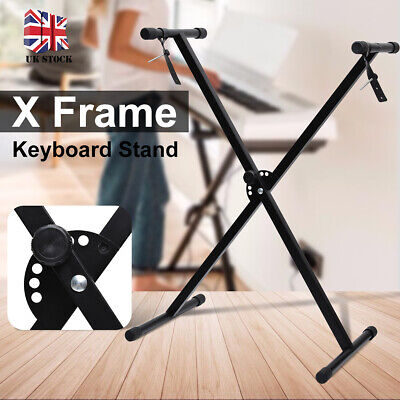 Folding Portable Heavy Duty X Frame Adjustable Keyboard Stand Piano With Straps