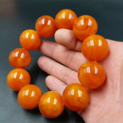 Hot selling natural Baltic Amber beautiful old beeswax Ball Bracelet + AA