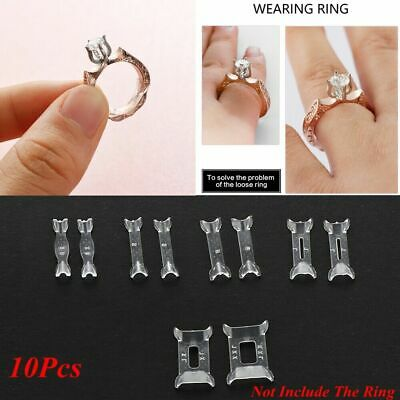 10Pcs Ring Resizer Jewelry Size Reducer Clear Spacer Guard Adjuster Invisible