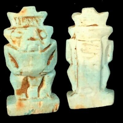 Beautiful Ancient Egyptian God Bes Amulet 300 Bc (1)