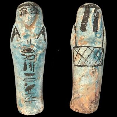 EGYPTIAN HIEROGLYPHIC SHABTI (1) Large Over 11.2 cm !!!!