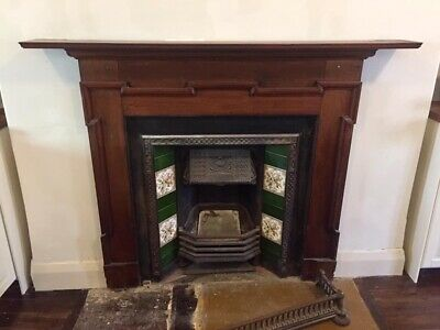 Victorian Style Fireplace - Mantle and Cast Iron Insert