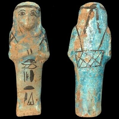 EGYPTIAN HIEROGLYPHIC SHABTI (2) Large Over 9.8 cm !!!!