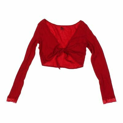 SO Girls Shrug size 14,  red,  cotton