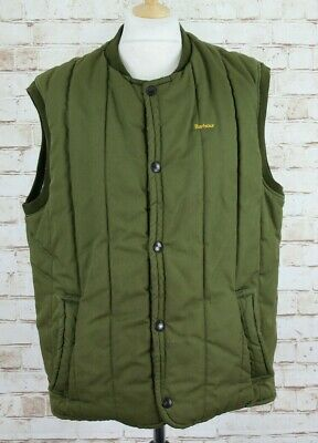 BARBOUR Olive Padded Gilet Chest size 46 In