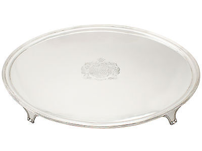 Georgian Sterling Silver Oval Shaped Salver 1801