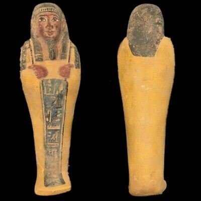 EGYPTIAN HIEROGLYPHIC SHABTI (6) Large Over 17 cm !!!!