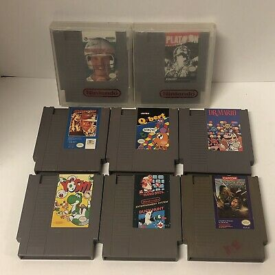 Nintendo NES Games Cartridges Lot Of 8 ~ Mario ~ Willow ~ Yoshi ~ CLEANED TESTED