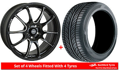 """Alloy Wheels & Tyres 17"""" Calibre Friction For Audi A2 99-05"""