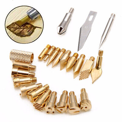 Leather Brass tips Woodworking 22pcs Wood Burning Soldering Pyrography