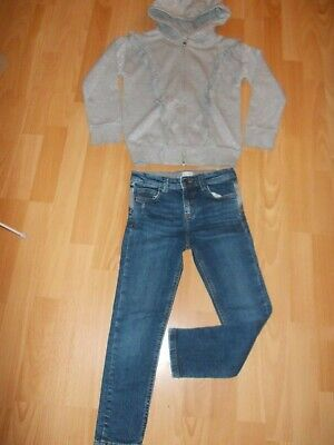 Stunning Next Girls Hooded Zipper Jacket And Jeans Age 8 Years L@@@@@K