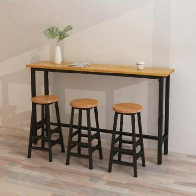 2pcs Vintage Bar Stool Metal Wooden Industrial Seat Kitchen Pub Counter Barstool