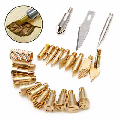 Brass tips Woodworking Metalwork 22pcs Wood Burning Soldering Pyrography