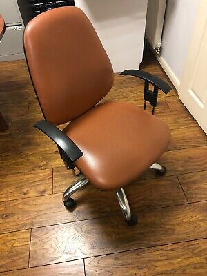 Leather office chair used