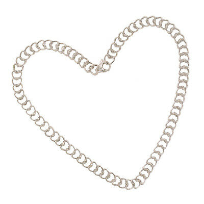 Tiffany & Co. Silver Necklace 925 Sterling Double Heart Link Chain 16 Inches